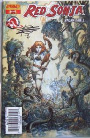 Red Sonja Vacant Shell Dynamic Forces Signed Rick Remender COA Ltd 200 DF
